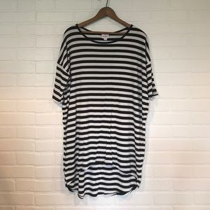 Black White Stripe LuLaRoe Irma S ribbed EUC