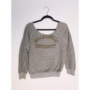 Vintage Off Shoulder Sweatshirt