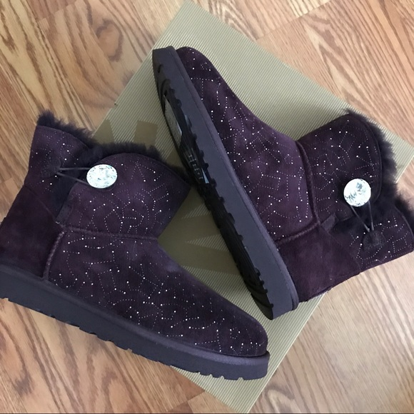 UGG Mini Bailey Bling Button Constellation Boots 9 e97158d514