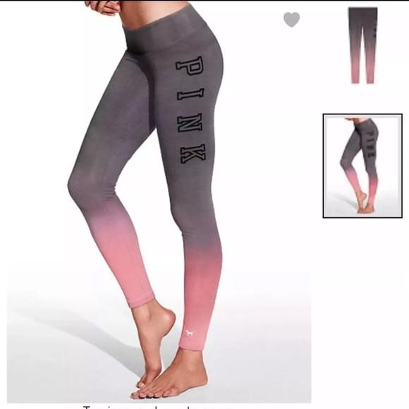 613829bc10b35 PINK Victoria's Secret Pants   Vs Pink Pink Ombr Leggings   Poshmark