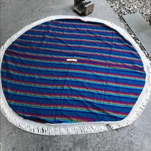 Other - Bohemian round beach blanket