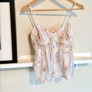 Brand New Beautiful Floral LInen Camisole