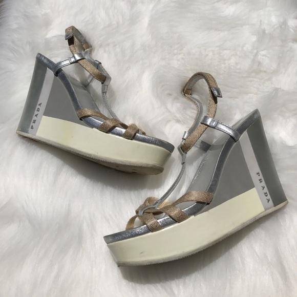 big sale cheap online Prada Sport Platform T-Strap Sandals clearance online cheap brand new unisex WMDzKv