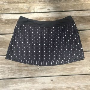 St. John Sport Black/White Polka Dot Skirt (Small)