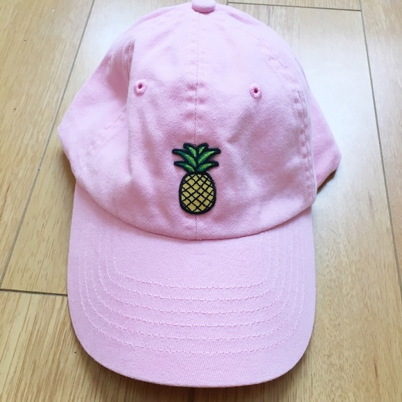 Pink Pineapple Baseball Cap Hat b6502e322750