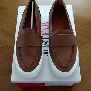 Cognac just fab loafers