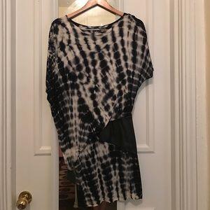 Black and white tie dye dress