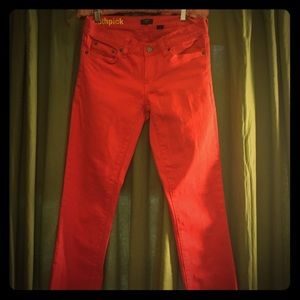 J. CREW Orange Toothpick Jeans-Size 26