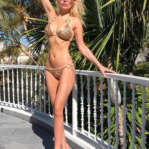 Price srop❗️Gold Shimmer Luxe Bikini