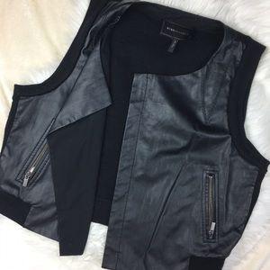 BCBG Leather Vest