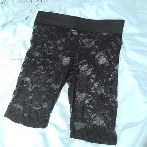Stretch Lace Layering  Pants Shorts