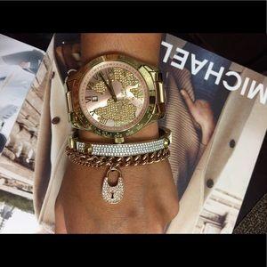 NWT Michael Kors Two Tone Watch