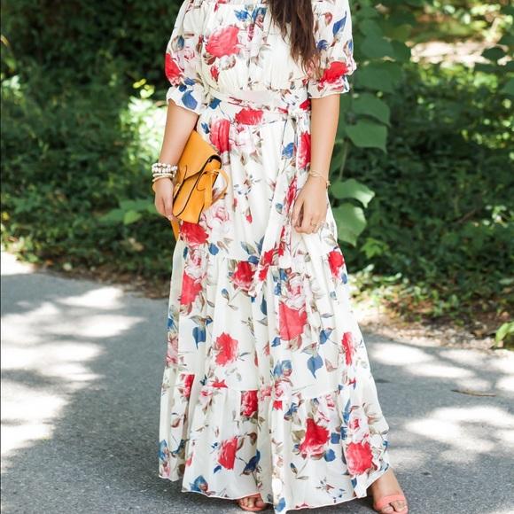 7698b0a8ac Off the Shoulder Floral Maxi Dress. M_596693516a5830dbab001fe1