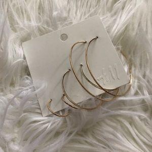 H&M Gold Hoop Earrings Multipack