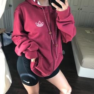 Burgundy Adidas Originals Jacket