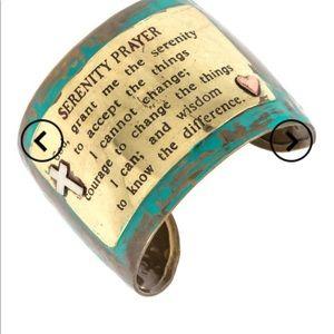 Cuff bracelet serenity prayer