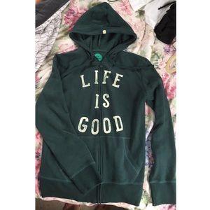 Life Is Good zip-up jacket