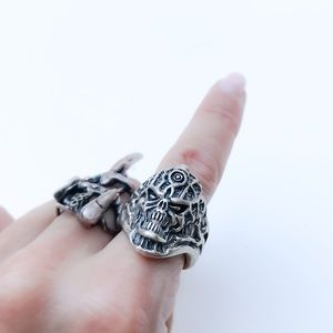 Heavy Sterling Silver Artisan Statement Ring 8
