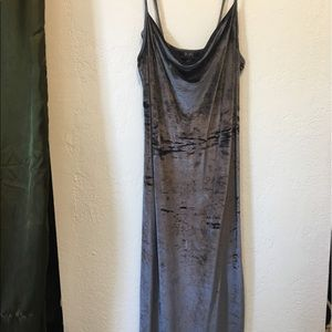 BCBG MAXAZRIA crushed velvet slip dress
