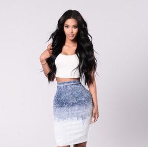 229762f802 Fashion Nova Skirts   Fn Denim Skirt   Poshmark