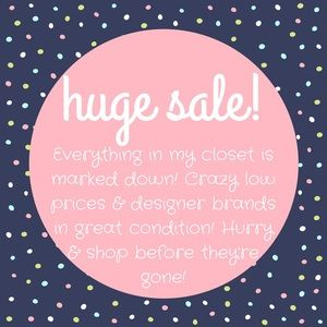 check out my closet, crazy low prices!!