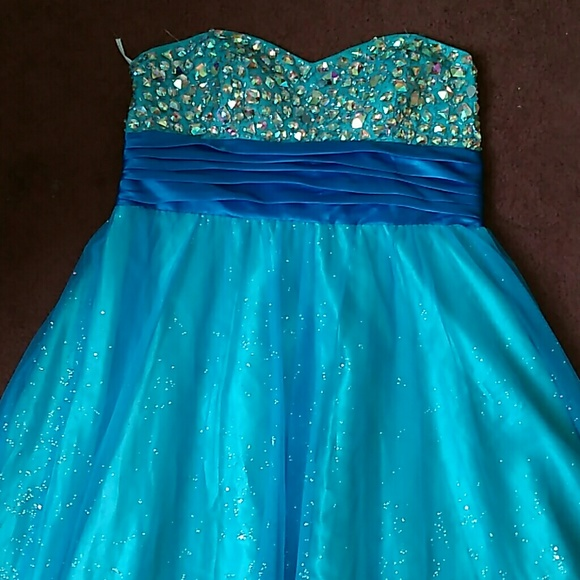 Deb Dresses Blue Elsacinderella Inspired Prom Dress Poshmark