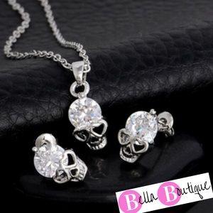 Jewelry - Cubic Zirconia 18k white gold filled skull jewelry