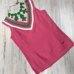 Nike pink knit tank