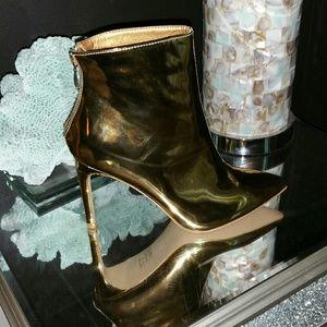 Trendy Gold Booties