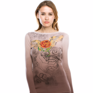 NEW Deep Dye Top WITH ROSE