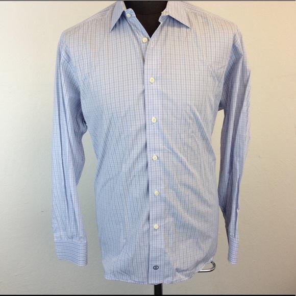 79 Off David Donahue Other Mens Light Blue Plaid Dress