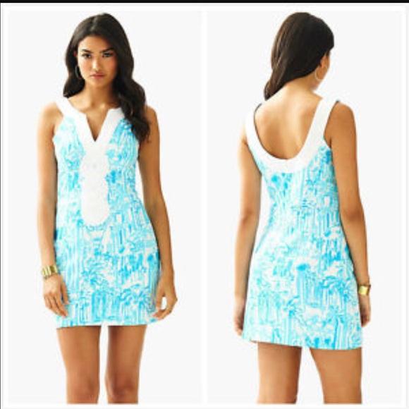 b12fe044602719 Lilly Pulitzer Valli Shift Dress in True Navy Sz 6 My Posh Picks