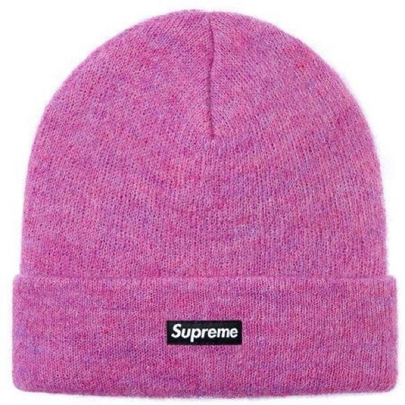8f70590d76c36 Supreme pink mohair beanie. M 5966b7412599feabf700b208