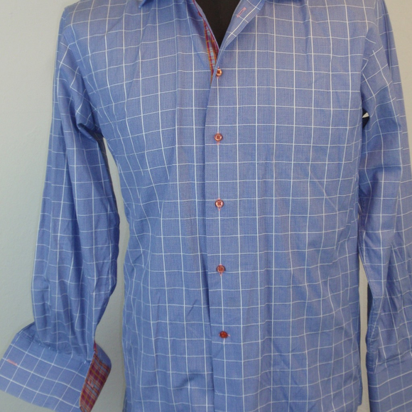 70 off coton doux other coton doux mens french blue plaid shirt from michele 39 s closet on poshmark. Black Bedroom Furniture Sets. Home Design Ideas