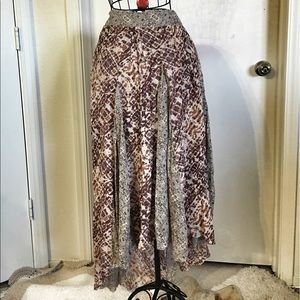 NWT FREE PEOPLE asymmetrical maxi skirt