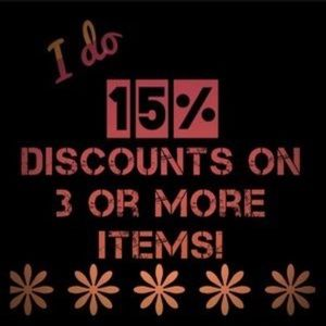 Other - Bundle 3 items, get 15% off your order!!