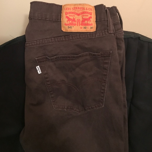 brown levi jeans mens