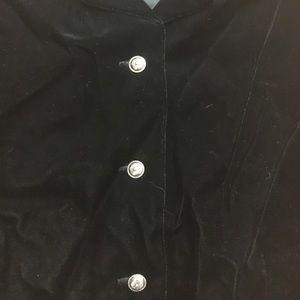 Dkny Tops - Vintage DKNY Size 8 Velvet Feeling Black Vest