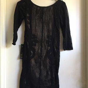 Bebe Mesh Midi Dress