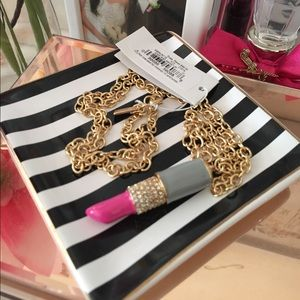 🌸OFFERS?🌸Kate Spade Kiss & Make Up Necklace