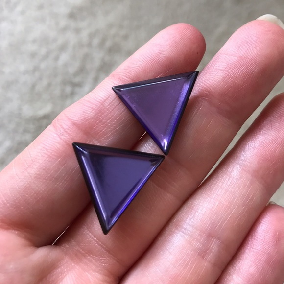 Jewelry - purple traingle earrings