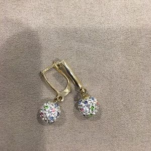 Jewelry - Sterling with gold plating earrings
