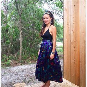 Purple Silk Gypsy Skirt