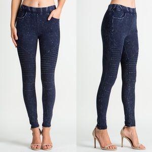 JACKIE Biker Pants - BLUE