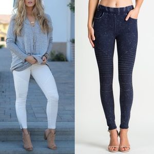 JACKIE Biker Pants - BLUE