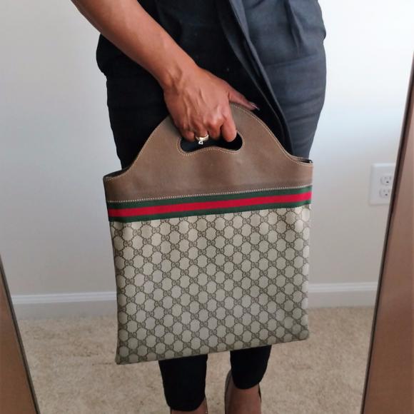 5c6b26cec Gucci Bags | Sherry Stripe Authentic Tote Shopper Handbag | Poshmark