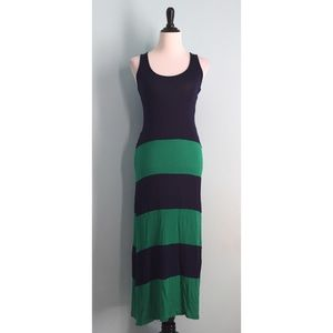 Dresses & Skirts - Navy & Green Striped Maxi Dress