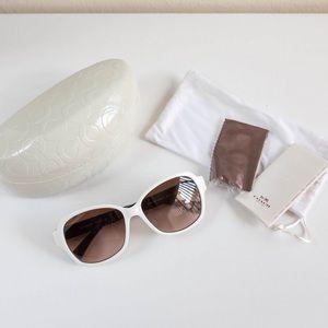 10b847560653 Coach Accessories - Coach - White Sunglasses (White/Black)