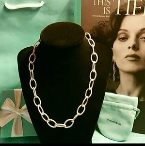 Rare Tiffany & Co Twisted Links Necklace