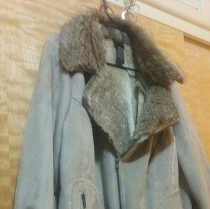 Jackets & Blazers - Ladies plus size faux suede jacket